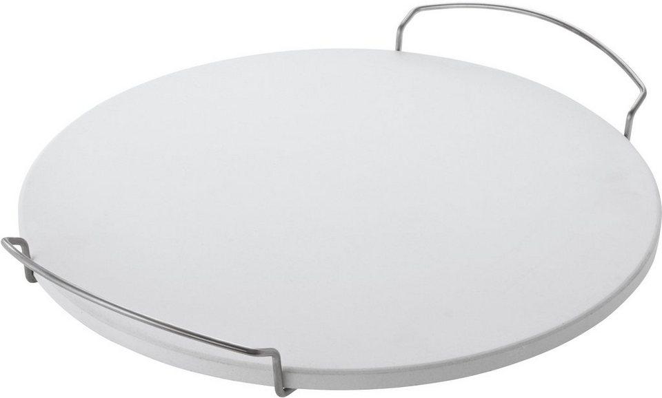 RÖSLE Pizzastein rund 41 cm in weiß