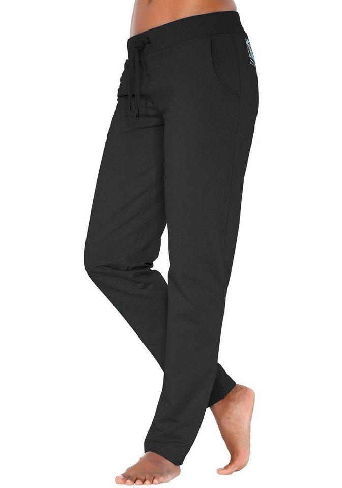 Chiemsee Relaxhose mit seitlichen Taschen in schwarz