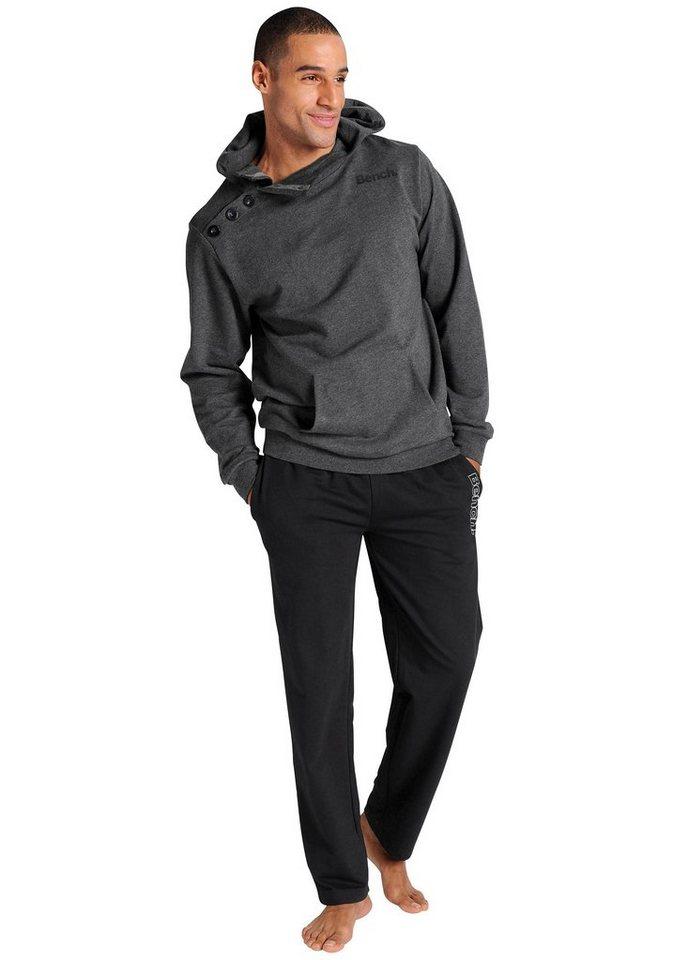 Bench Homewear-Anzug in 1x anthrazit-schwarz