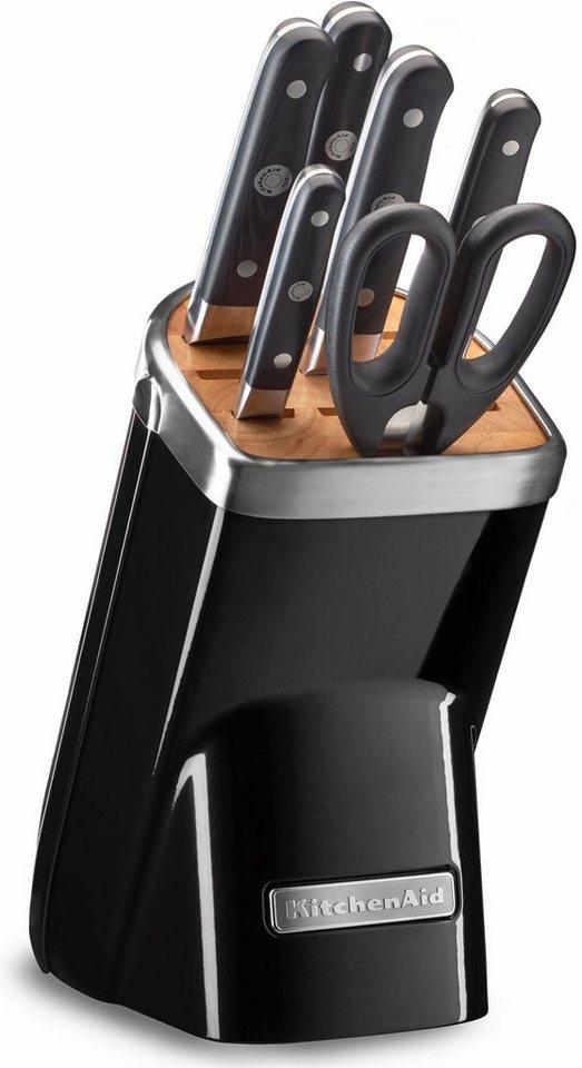 KitchenAid® Messerblock KKFMA07OB, 7-teiliges Set, schwarz in schwarz