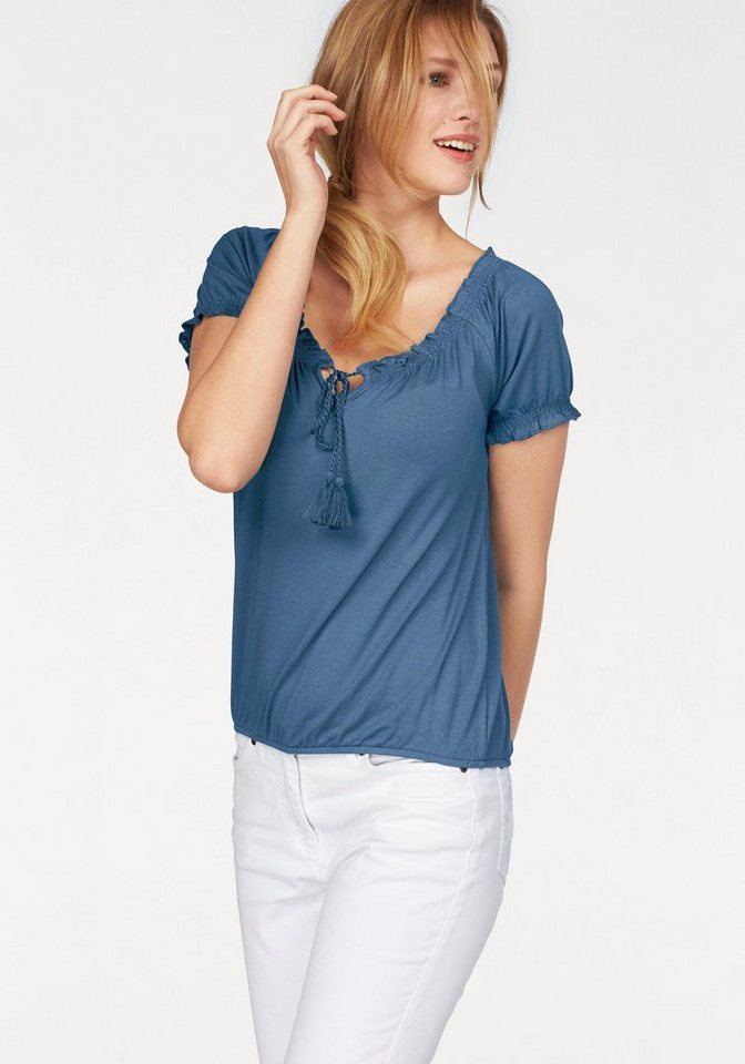 Cheer T-Shirt in blau