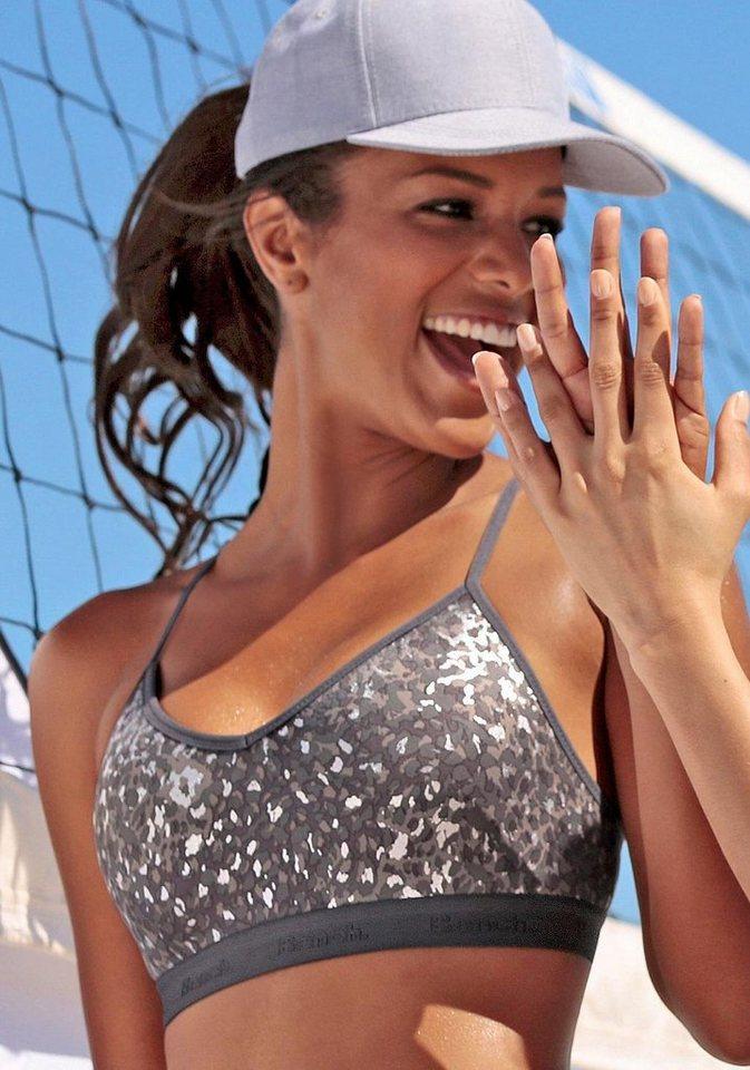 Bench Spacer-Sport-BH für Sportarten leichter Belastbarkeit in silberfarben bedruckt
