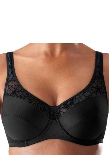 Nuance Minimizer Bra With Bow And Floral Flock Print