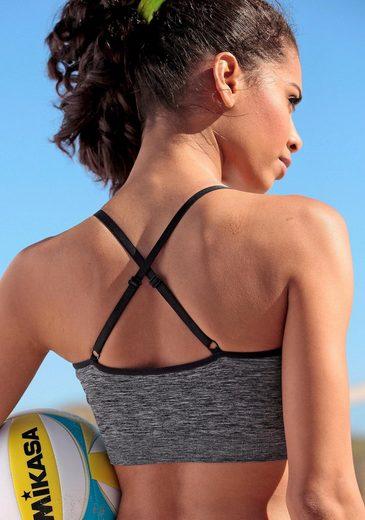 Bench. Sport-BH ohne Bügel mit nahtloser Verarbeitung für Sportarten leichter Belastbarkeit