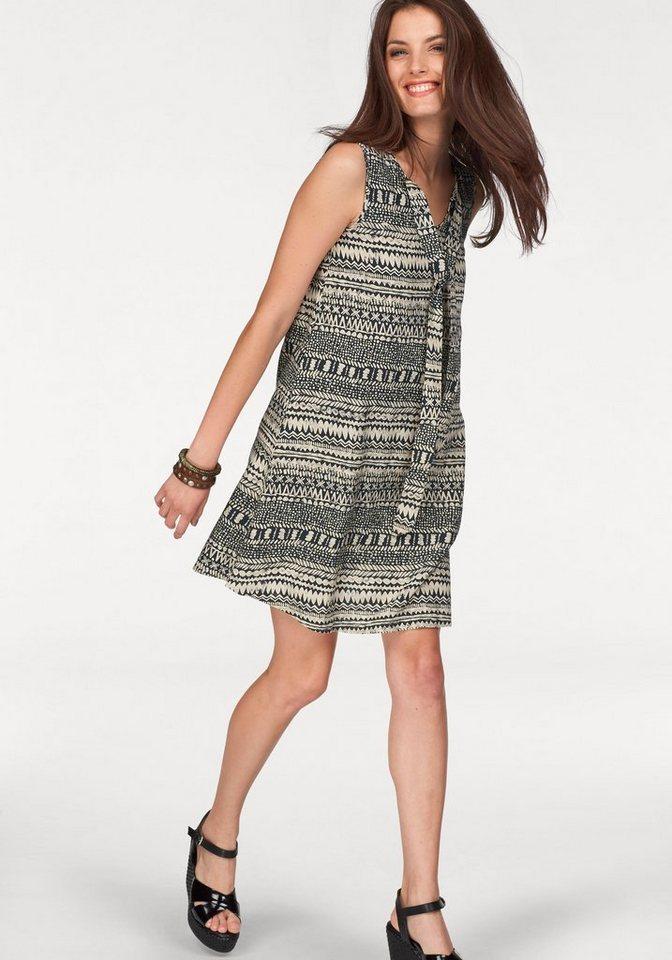 Aniston Sommerkleid in schwarz-natur-bedruckt
