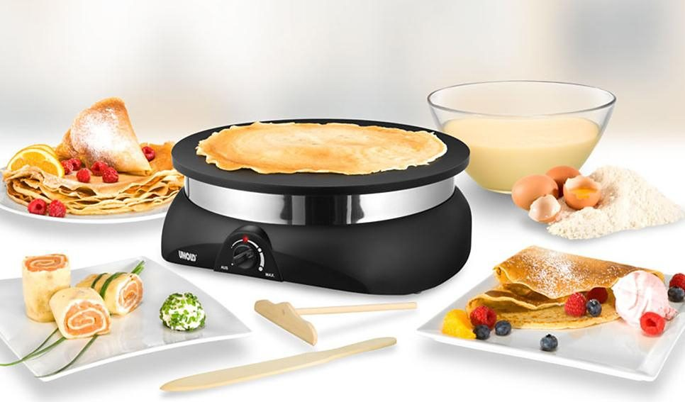 UNOLD® Crêpesmaker Profi 48155, Ø ca. 33cm, antihaftbeschichtet, 1250 Watt