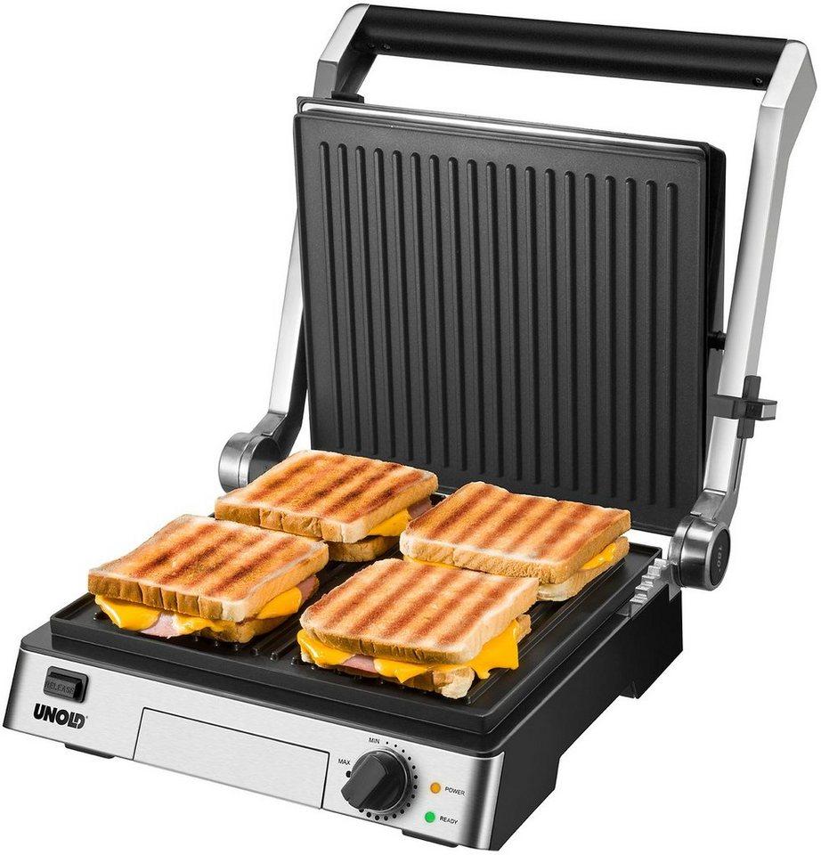 unold kontakt grill steak 58526 mit kratzunempfindlicher antihaftbeschichtung 2000 watt. Black Bedroom Furniture Sets. Home Design Ideas