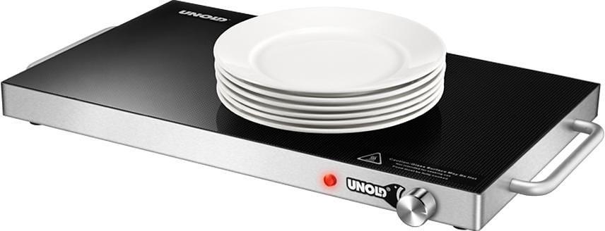 UNOLD® Warmhalteplatte Profi XXL 58825, 1250 Watt in edelstahl/schwarz