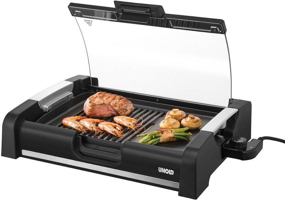 UNOLD® Barbecue-Grill Edel 58535, keramische Antihaftbeschichtung, 1650 Watt in schwarz