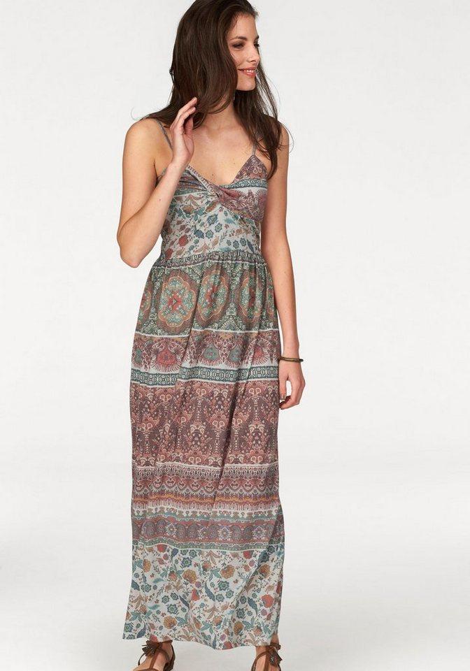 Aniston Jerseykleid im Ethno-Look in rotbraun-wollweiß-grün-blau-gemustert