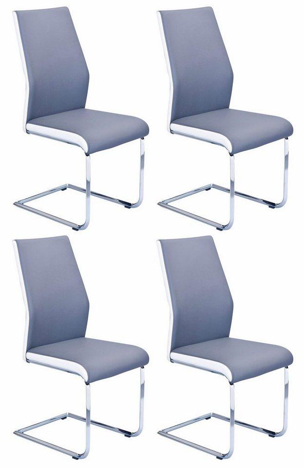 Stühle (4 Stck.) in grau/weiß