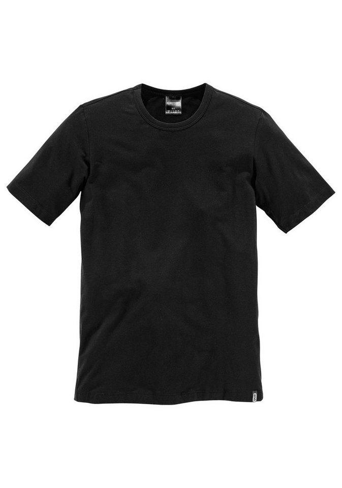 Schiesser T-Shirt in 1x schwarz