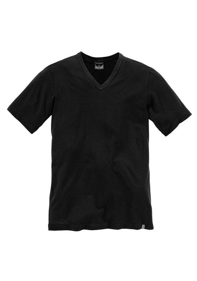 Schiesser V-Shirt in 1x schwarz
