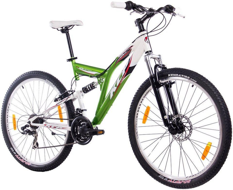 Mountainbike »DETROIT grün-weiß, 70 cm (27,5 Zoll)« in grün