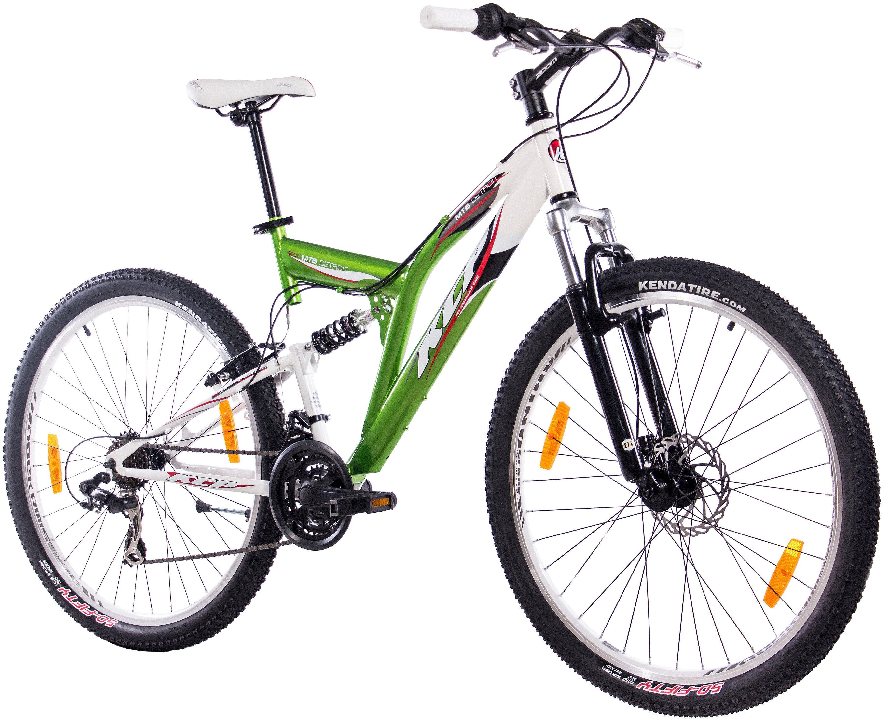KCP Mountainbike »DETROIT grün-weiß, 70 cm (27,5 Zoll)«