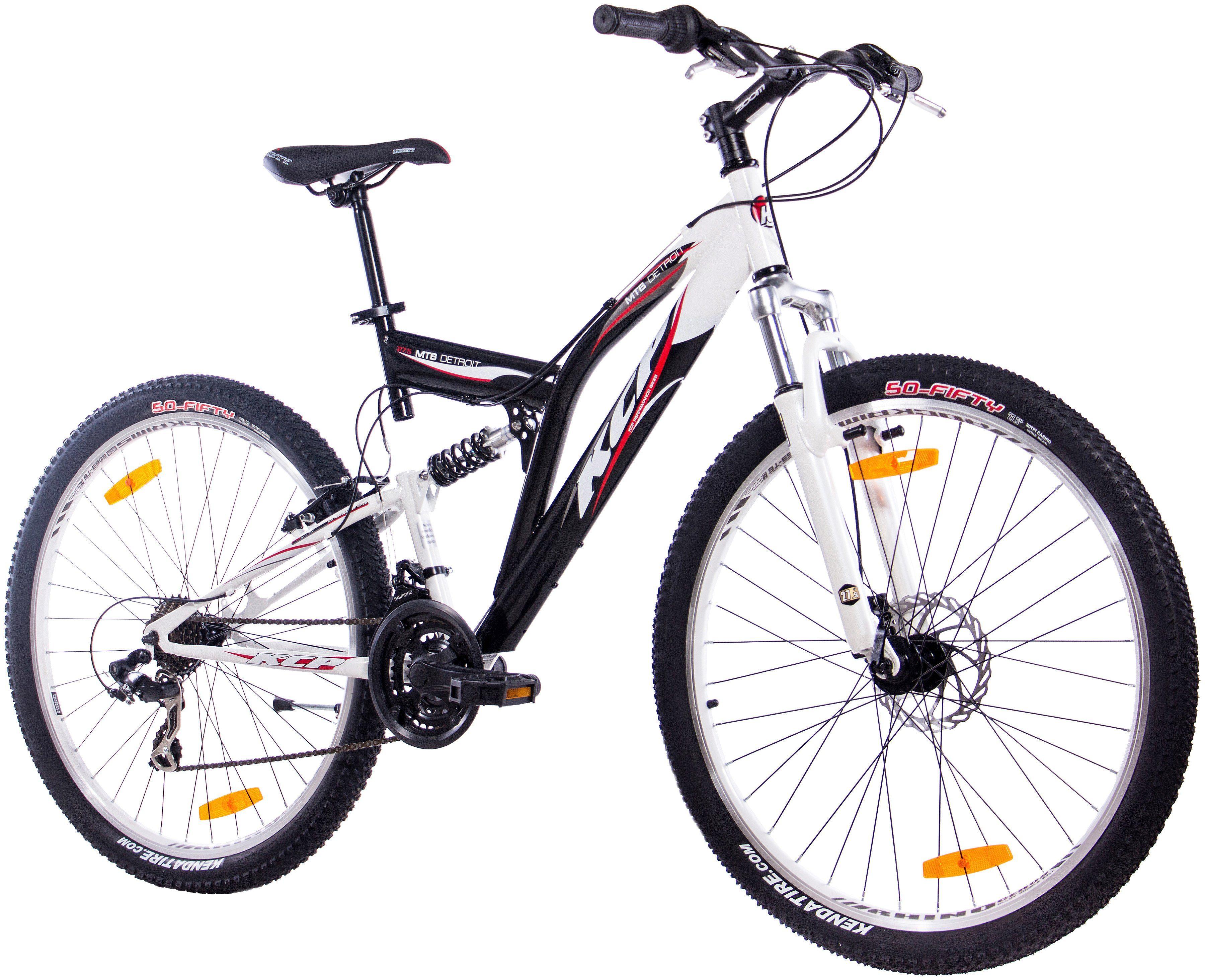 Fully-Mountainbike »DETROIT schwarz-weiß, 70 cm (27,5 Zoll)«