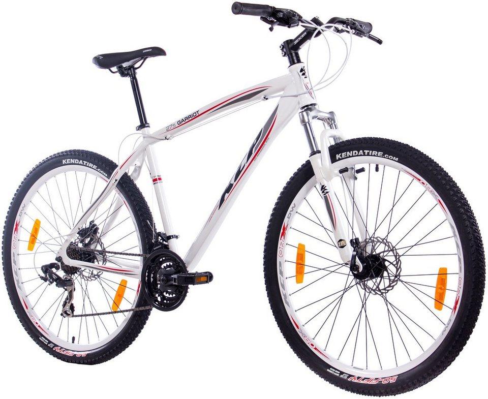 Mountainbike »GARRIOT weiß, 70 cm (27,5 Zoll), Rahmenhöhe: 53 cm« in weiß