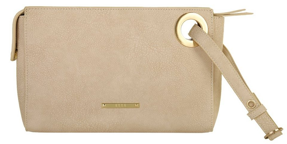 ELLE Damen Clutch »Eyelets« in beige