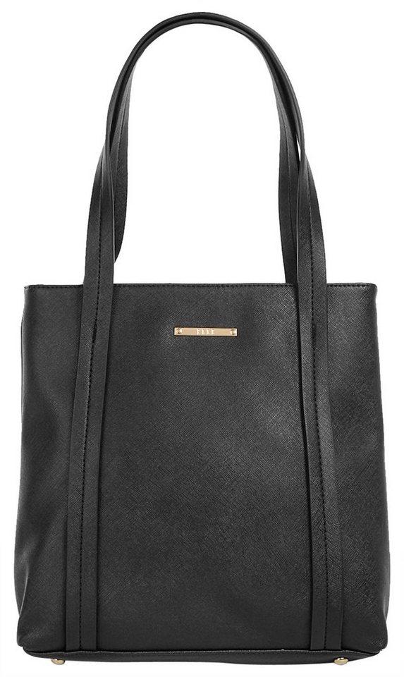 ELLE Damen Handtasche »Saffiano« in schwarz