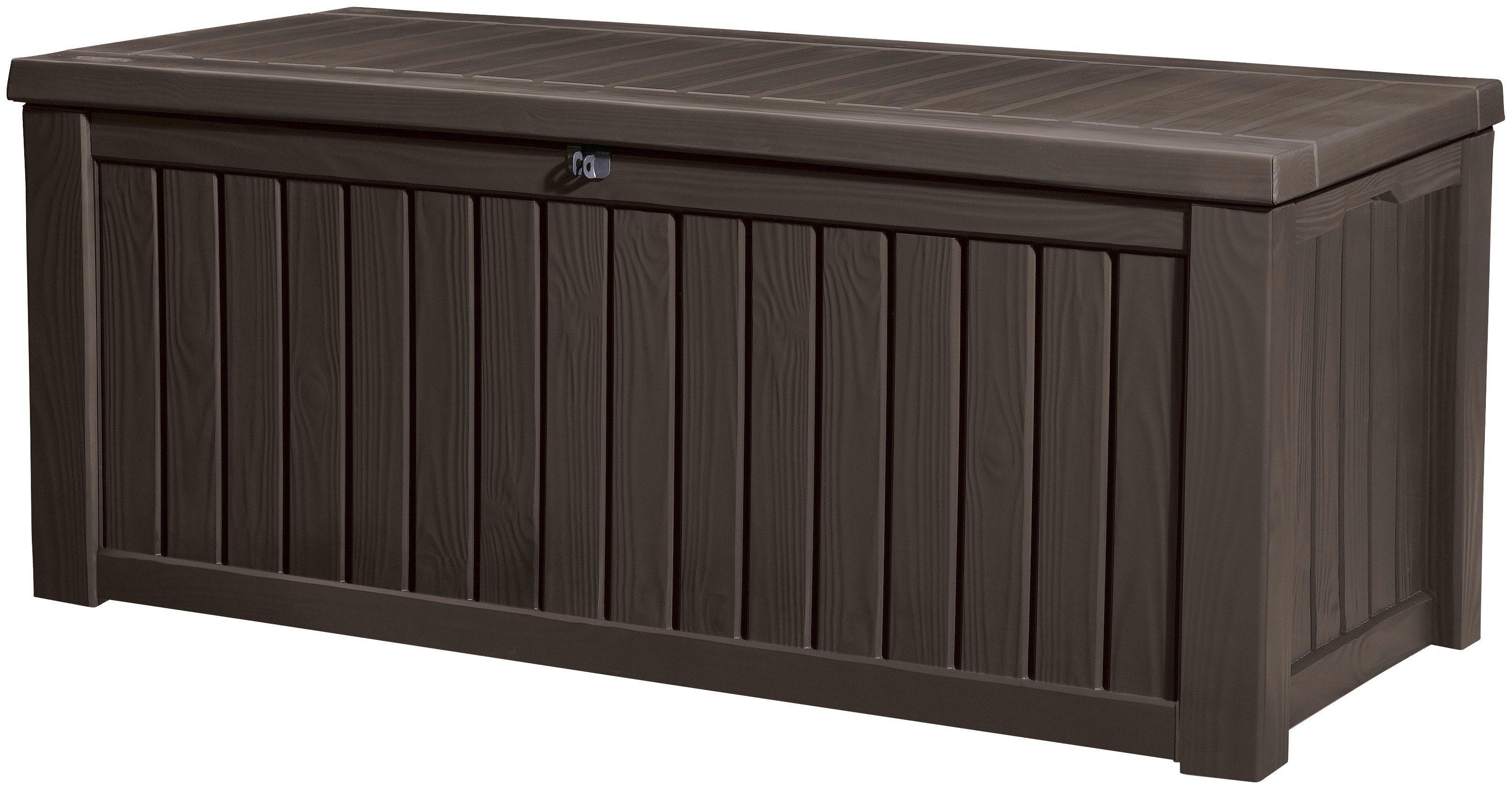 Auflagenbox , 155x64x72 cm, Kunststoff, braun