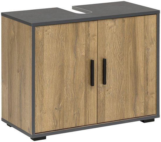 Wilmes Waschbeckenunterschrank »ADRIA« Waschbecken Unterschrank 65 cm breit mit 2 Türen