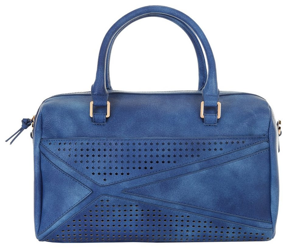ELLE Damen Handtasche »Perfo« in blau