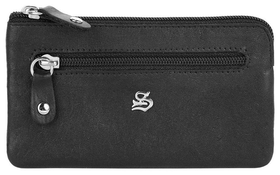 SZUNA Leder Schlüsseltasche in schwarz