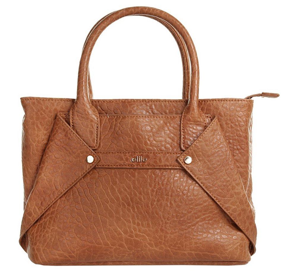 ELITE MODEN Damen Handtasche in cognac