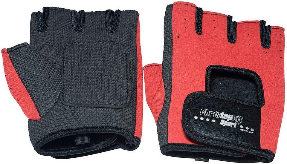 Christopeit Sport® Fitness-Handschuhe, rot-schwarz in rot-schwarz