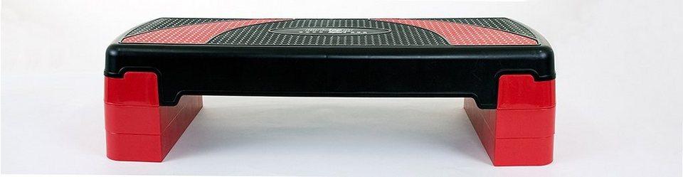 Christopeit Sport® Aerobic Steppbrett, schwarz-rot in schwarz-rot