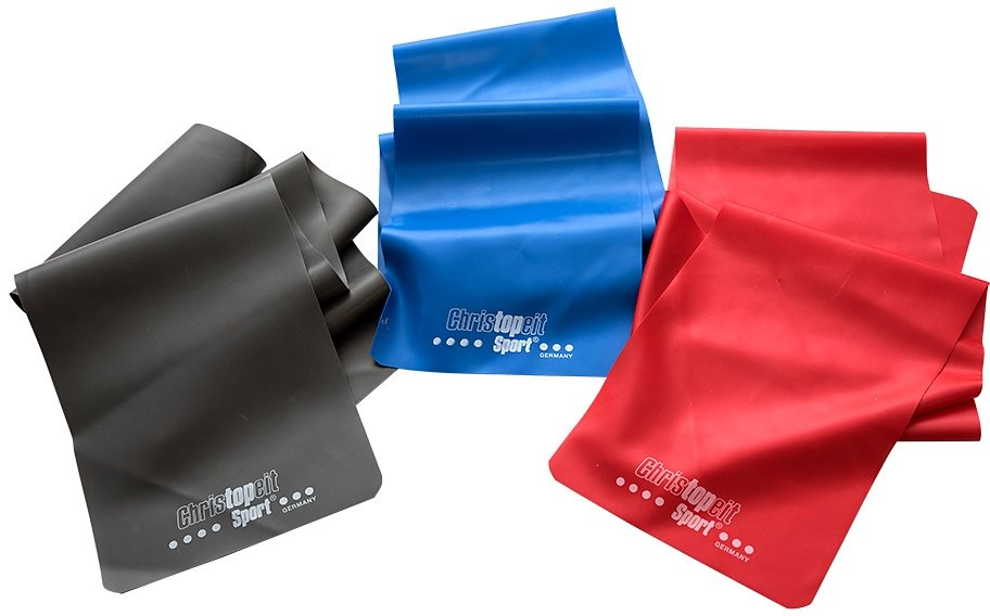 Christopeit Sport® Gymnastikbänder 3er-Set, grau/rot/blau in grau/rot/blau