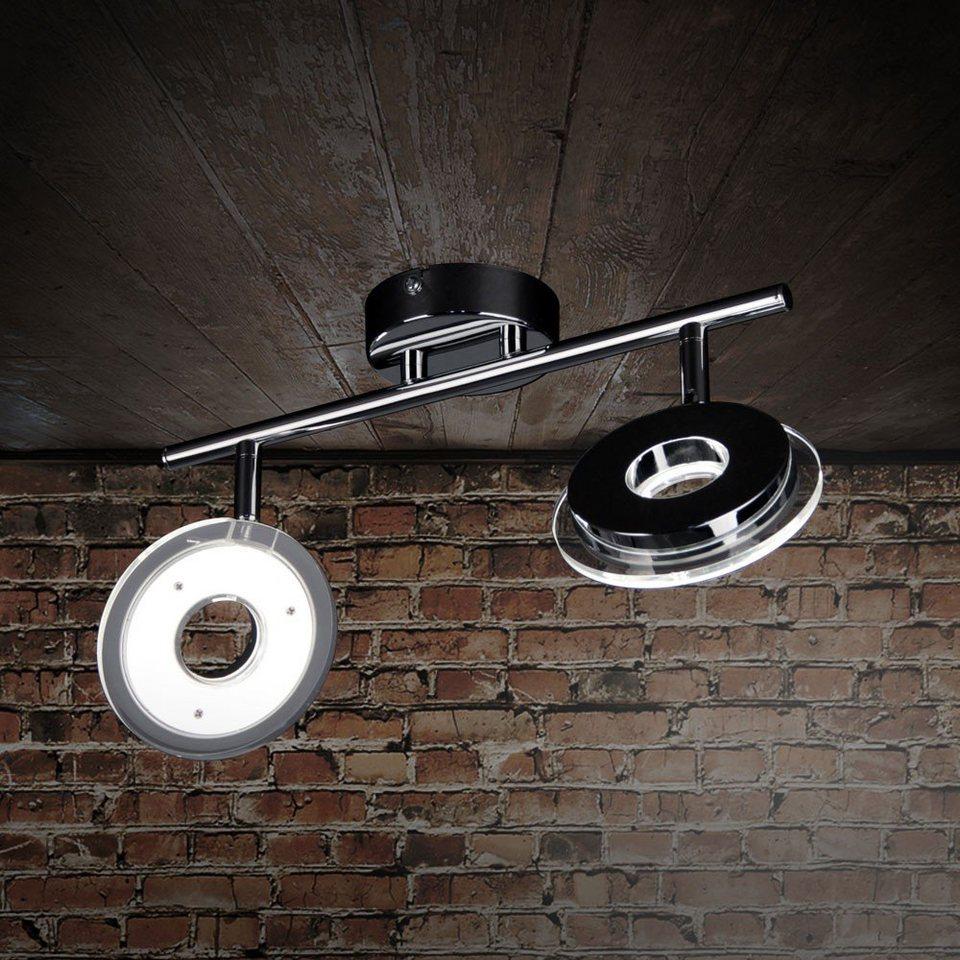Licht-Trend Deckenleuchte »Sempre Due / LED-2er Spot drehbar / Chrom« in Silber