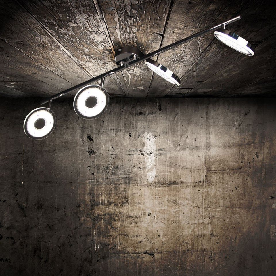 Licht-Trend Deckenleuchte »Sempre Quattro LED 4er Balkenspot in Chrom« in Silber