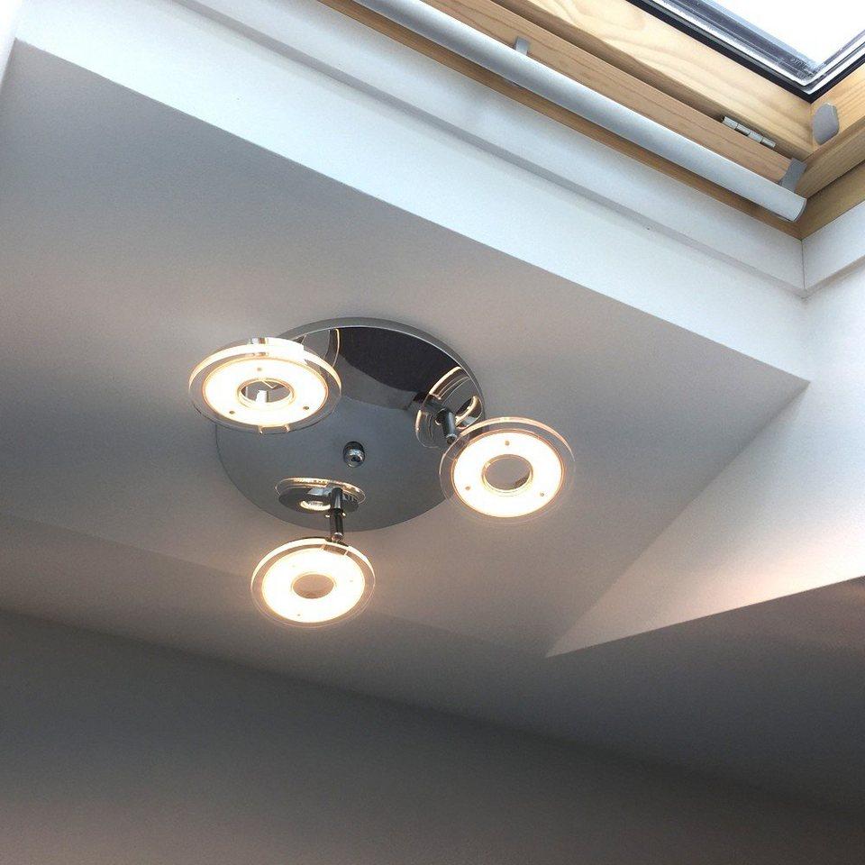 Licht-Trend Deckenleuchte »Sempre Tres / drehbarer LED-3er Spot / Chrom« in Silber