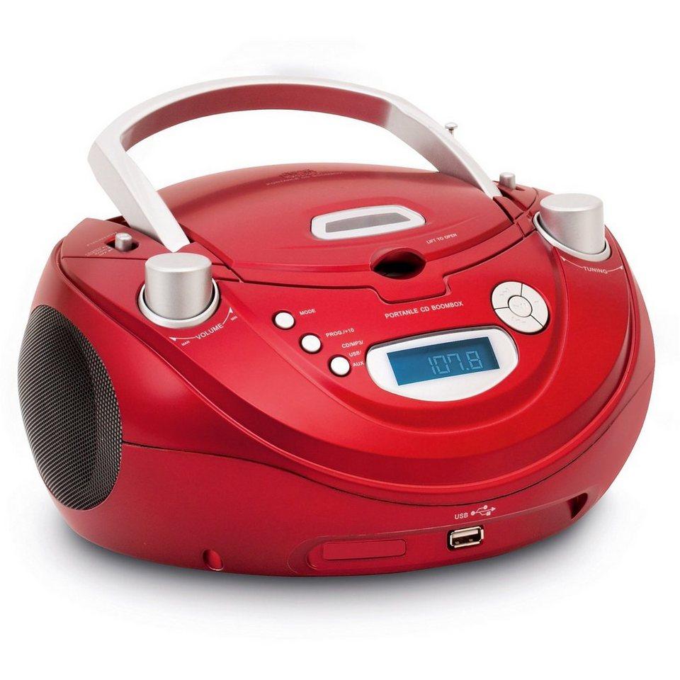 bigben cd player mit radio und usb cd56 rot otto. Black Bedroom Furniture Sets. Home Design Ideas