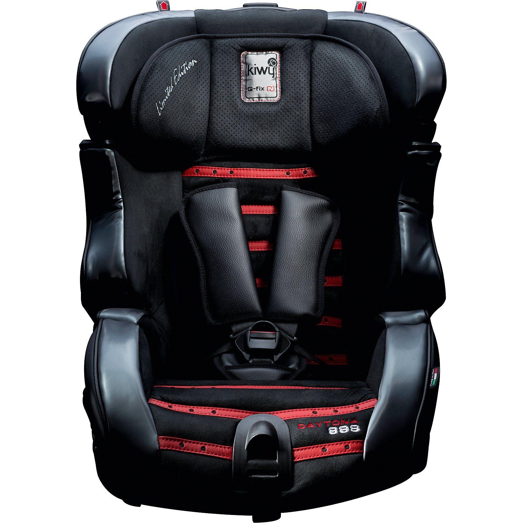 Kiwy Auto-Kindersitz SLF123 Q-Fix Daytona 888, Schwarz-Rot, 2017