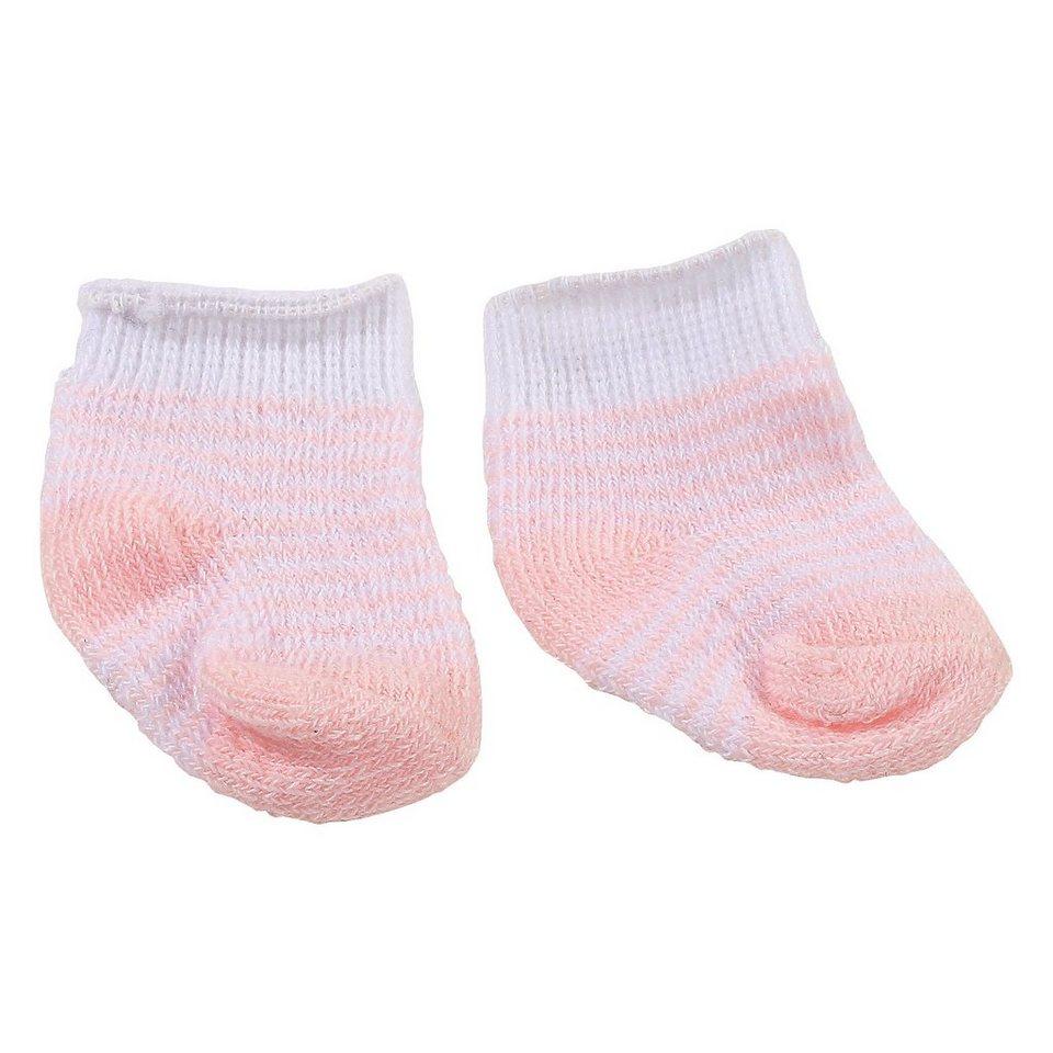 Götz Puppenkleidung Socken, stripy pink, 30-33cm