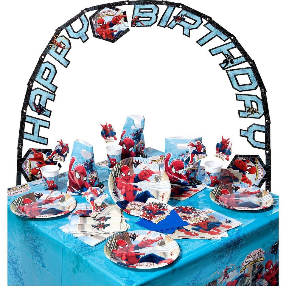 Procos Partyset Spiderman Web Warriors, 56-tlg.
