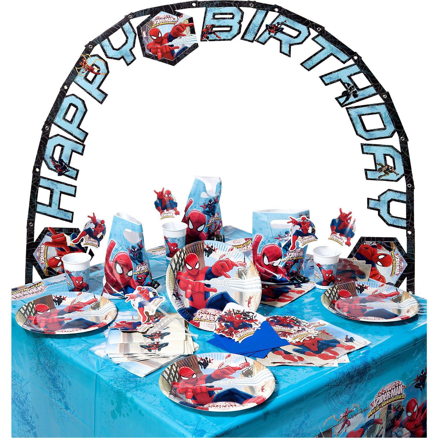 Procos Partyset Spiderman Web Warriors, 56-tlg.