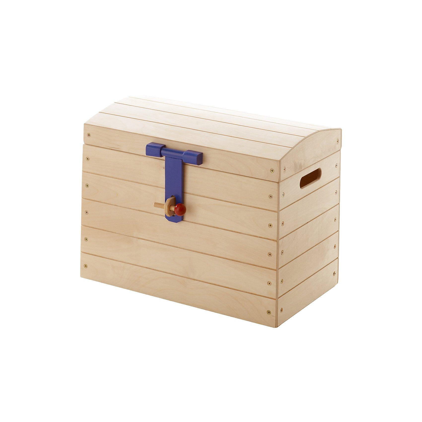 TICAA Spielzeug Truhe, Birke massiv