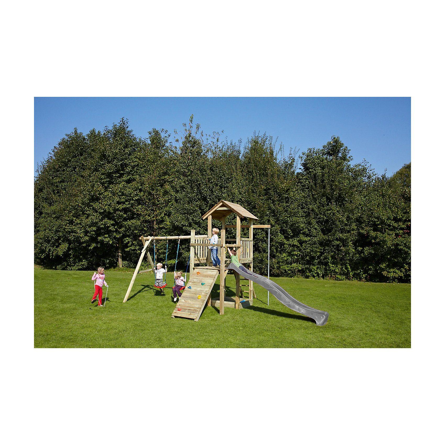 Spielturm mit Holzdach - PIRATE & PRINCESS 5 - ohne Rutsche