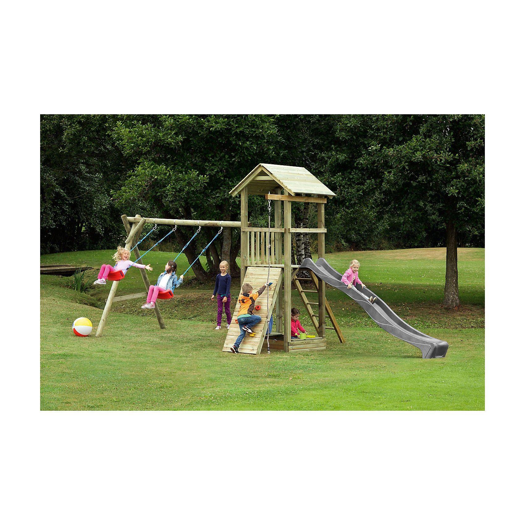Spielturm mit Holzdach - PIRATE & PRINCESS 6 - ohne Rutsche