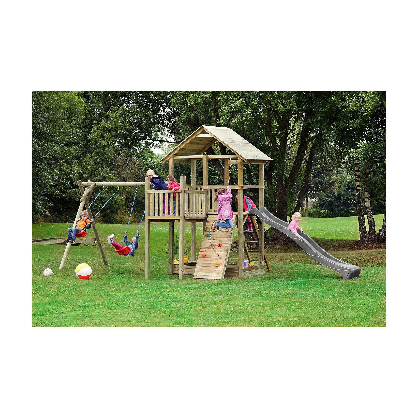 Spielturm mit Holzdach - PIRATE & PRINCESS 12 - ohne Rutsche