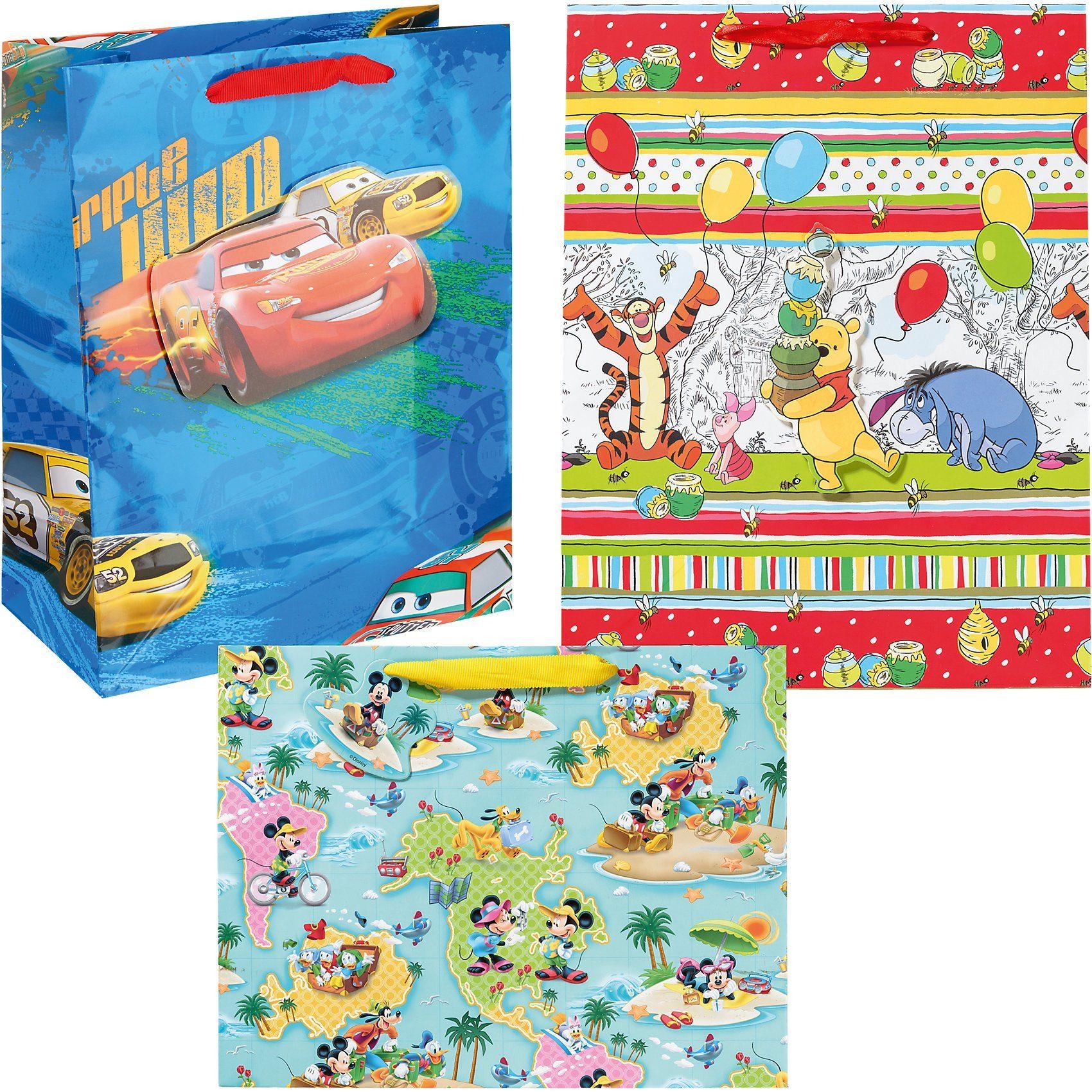 Geschenktüten-Set Disney Jungen, 3-tlg.