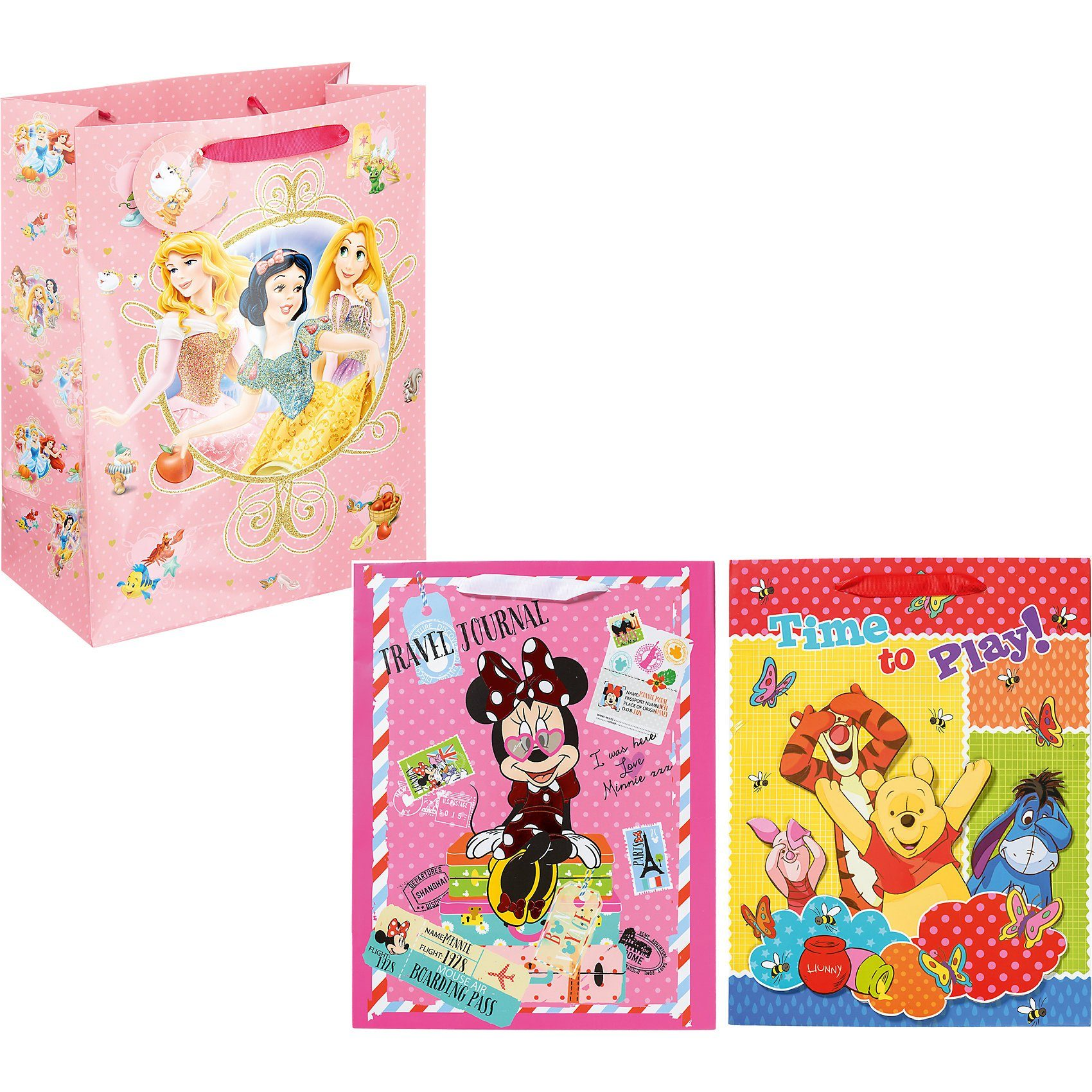 Geschenktüten-Set Lack & Glamour Disney Mädchen, 3-tlg.