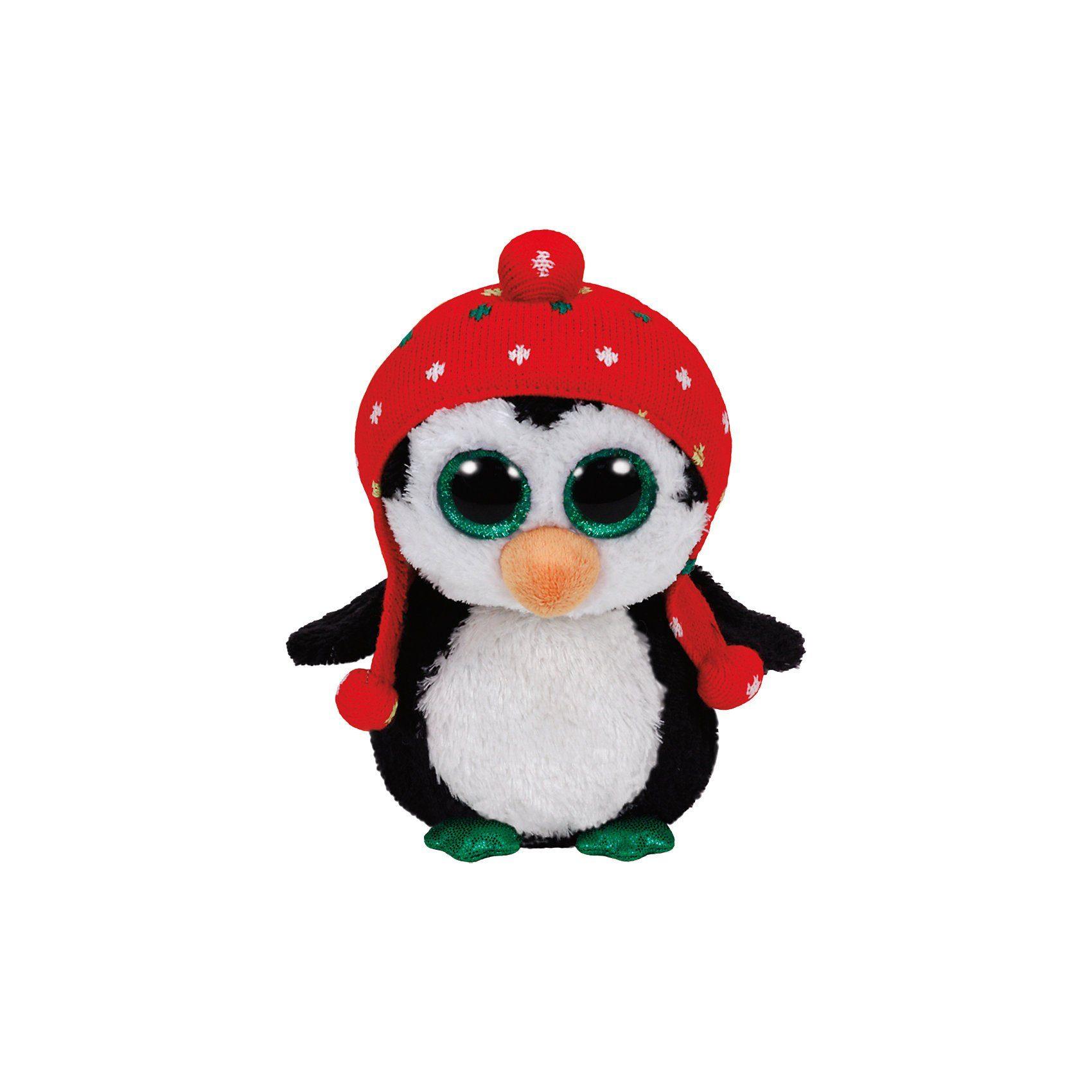 Ty Freeze Pinguin mit Mütze rot 15cm