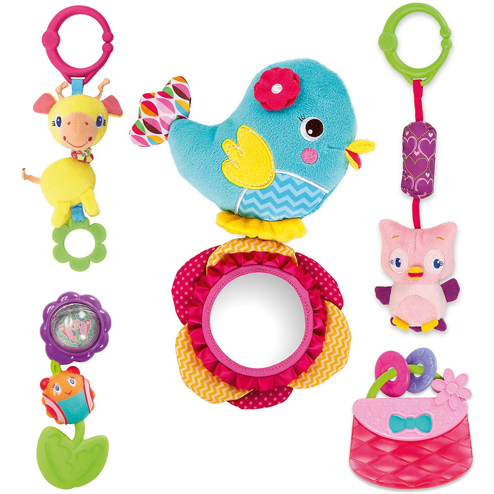 Kids II Bright Starts Geschenkset Pinke Vögel