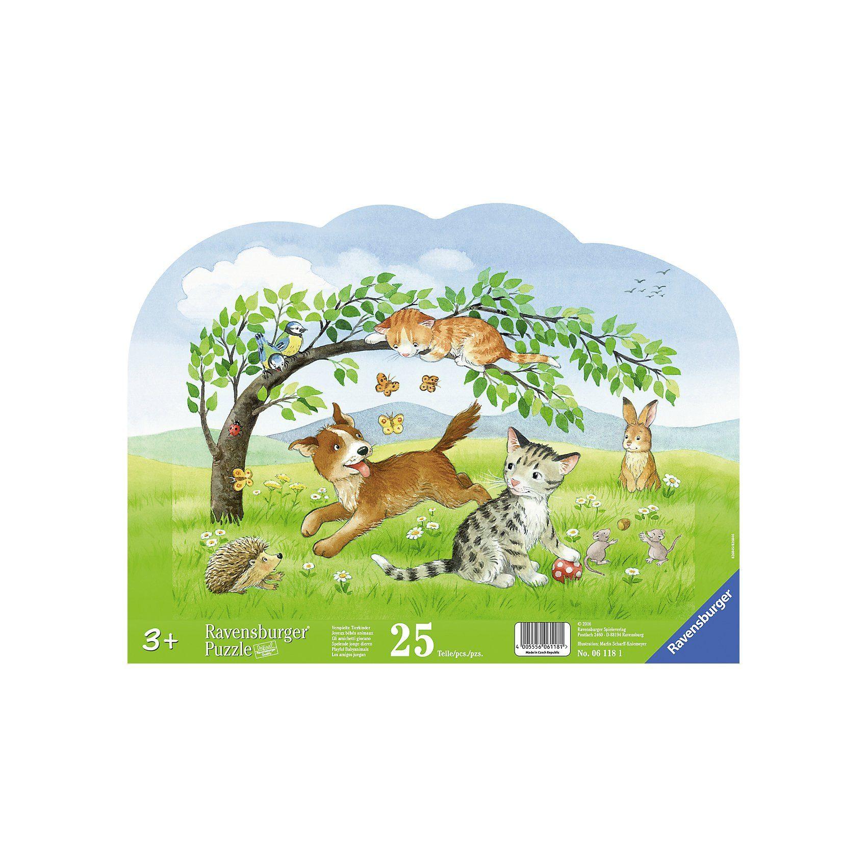 Ravensburger Rahmenpuzzle Verspielte Tierkinder 25 Teile