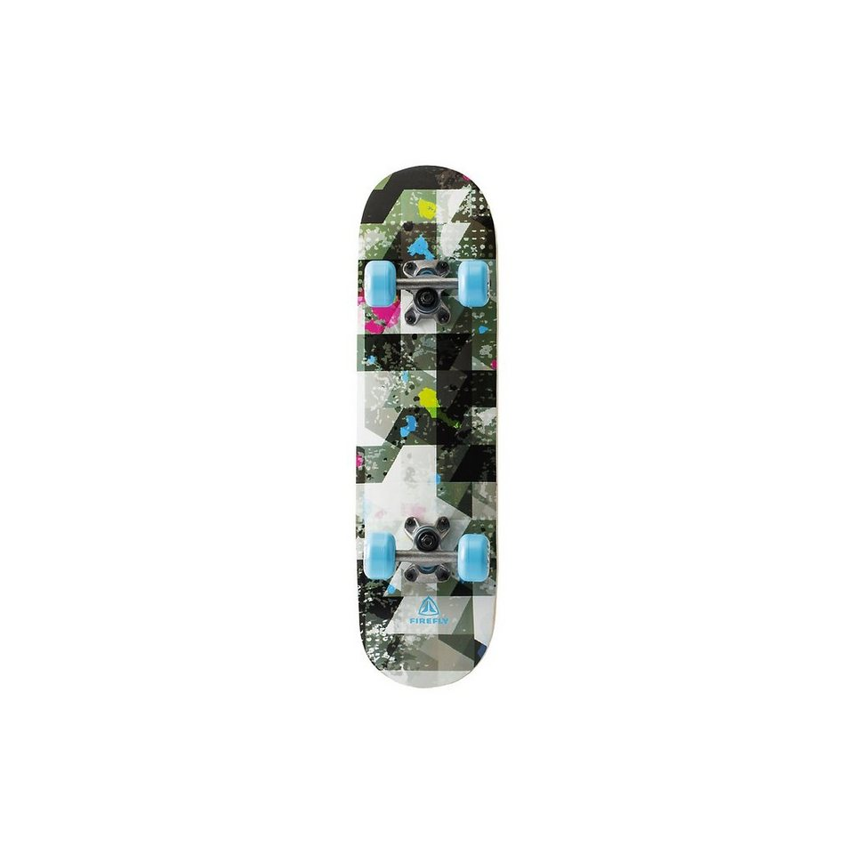 Firefly Skateboard Abstract, schwarz in schwarz