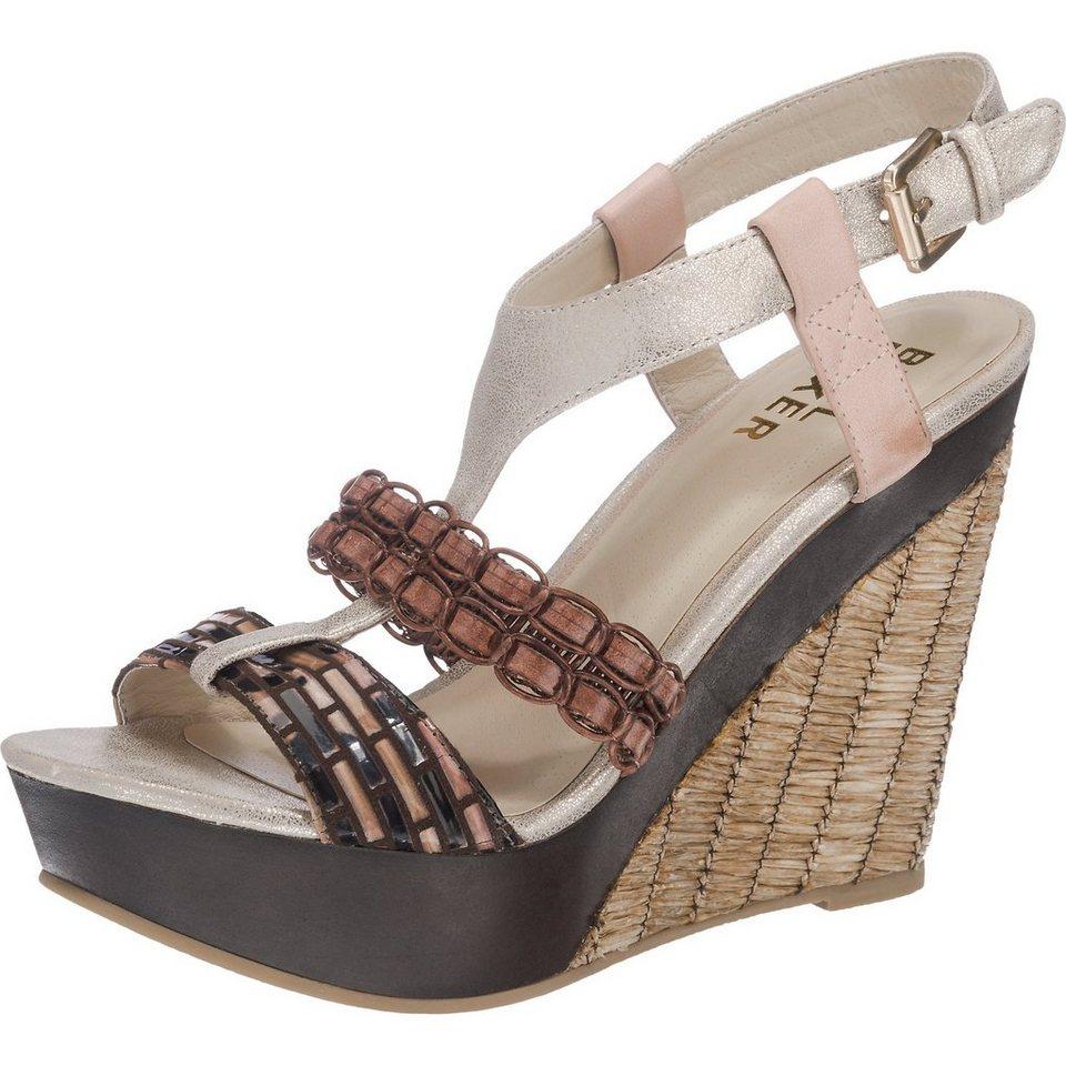 BULLBOXER Sandaletten in braun-kombi